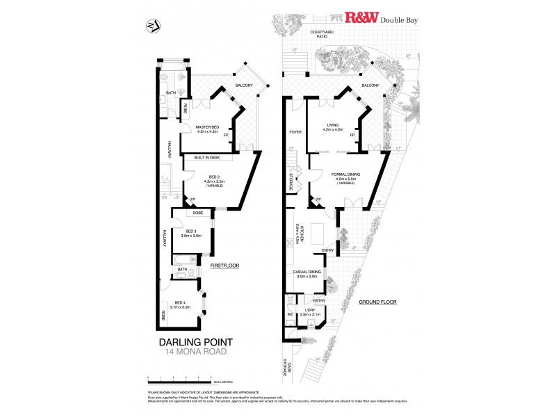 14 Mona Road, Darling Point NSW 2027 Floorplan