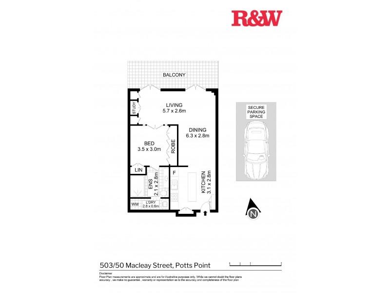 503/50 Macleay Street, Potts Point NSW 2011 Floorplan