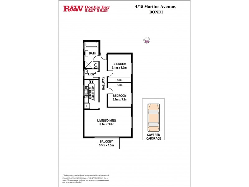 4/15 Martins Avenue, Bondi NSW 2026 Floorplan