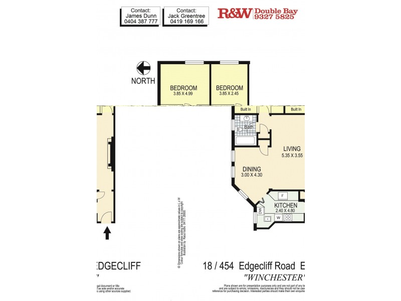18/454 Edgecliff Road, Edgecliff NSW 2027 Floorplan