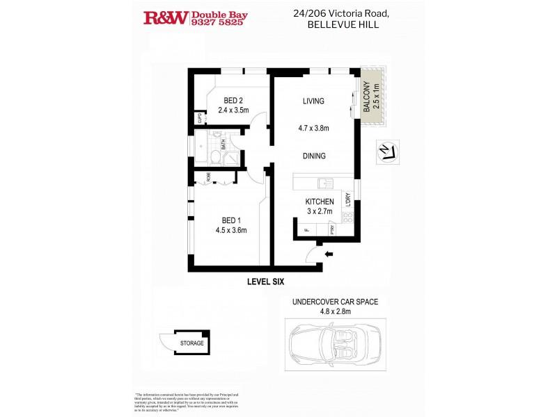 24/206 Victoria Road, Bellevue Hill NSW 2023 Floorplan