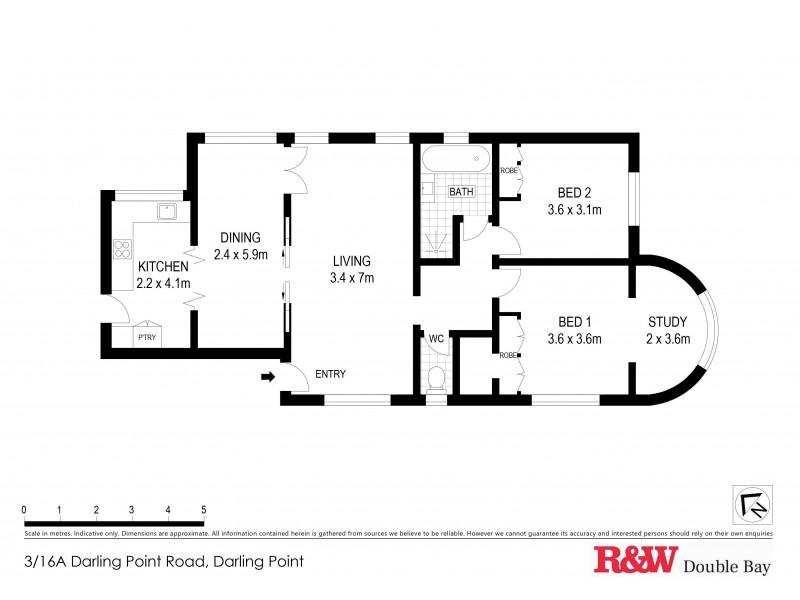 3/16a Darling Point Road, Darling Point NSW 2027 Floorplan