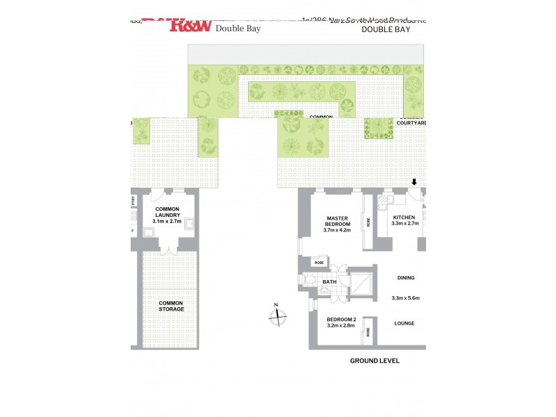 1a/286 New South Head Road, Double Bay NSW 2028 Floorplan
