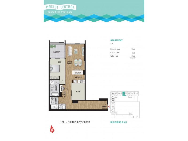 320/55 Church Avenue, Mascot NSW 2020 Floorplan