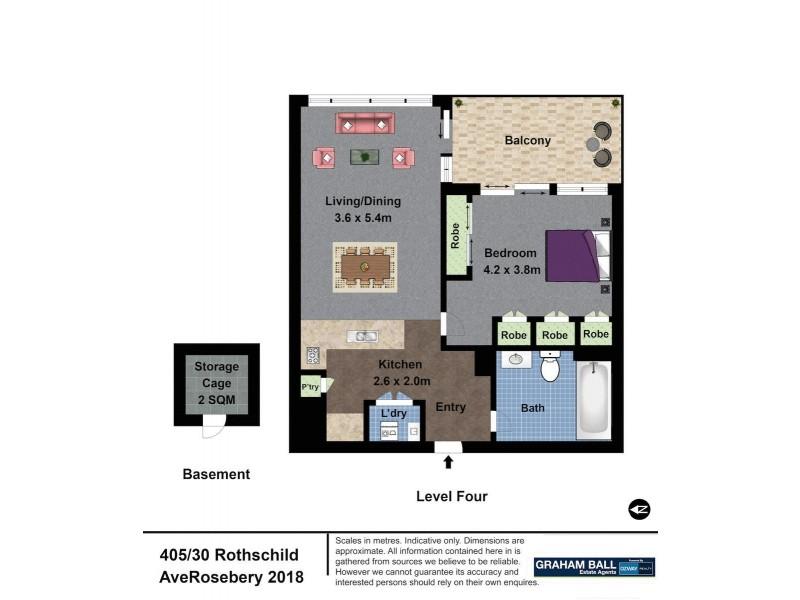 405/30 Rothschild Avenue, Rosebery NSW 2018 Floorplan