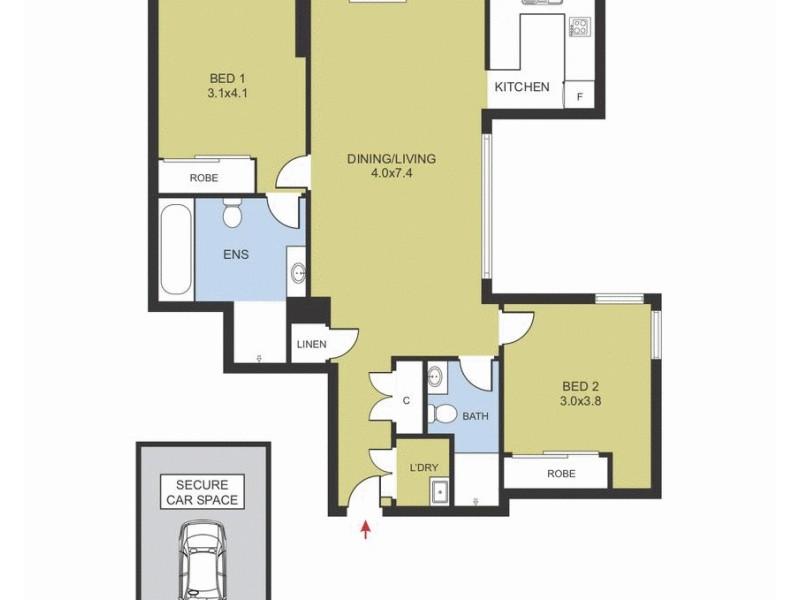 619/4 Spring Street, Rosebery NSW 2018 Floorplan