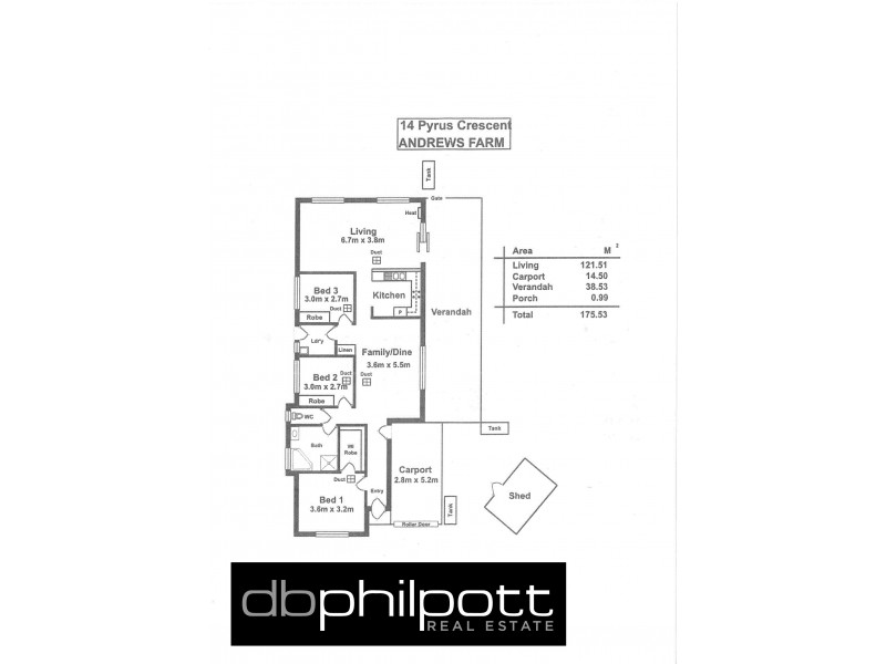 14 Pyrus Cres, Andrews Farm SA 5114 Floorplan