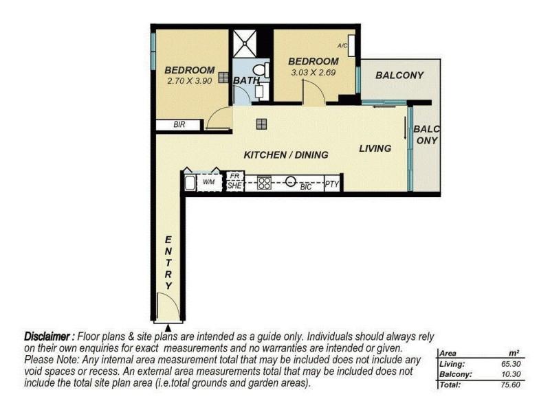 813/160 Grote Street, Adelaide SA 5000 Floorplan