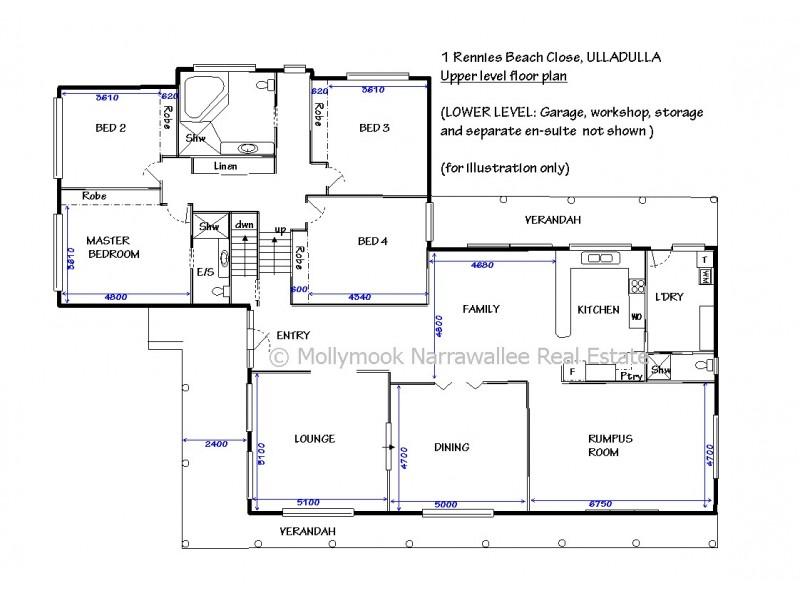 1 Rennies Beach  Cl, Ulladulla NSW 2539 Floorplan