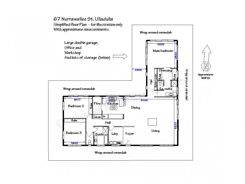 67 Nurrawallee  St, Ulladulla NSW 2539 Floorplan