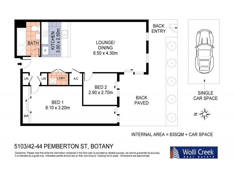 5103/42-44 Pemberton Street, Botany NSW 2019 Floorplan