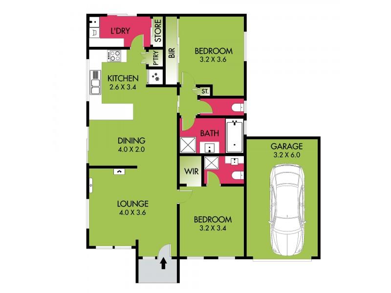 1/2 VINCENT COURT, Whittington VIC 3219 Floorplan