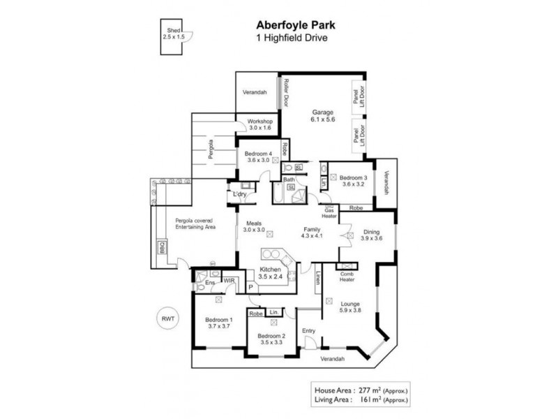 1 Highfield Drive, Aberfoyle Park SA 5159