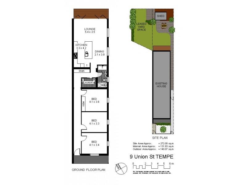 9 Union Street, Tempe NSW 2044 Floorplan