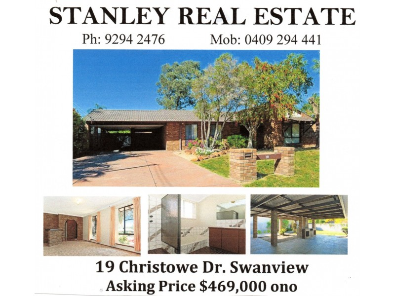 19 CHRISTOWE DRIVE, Swan View WA 6056