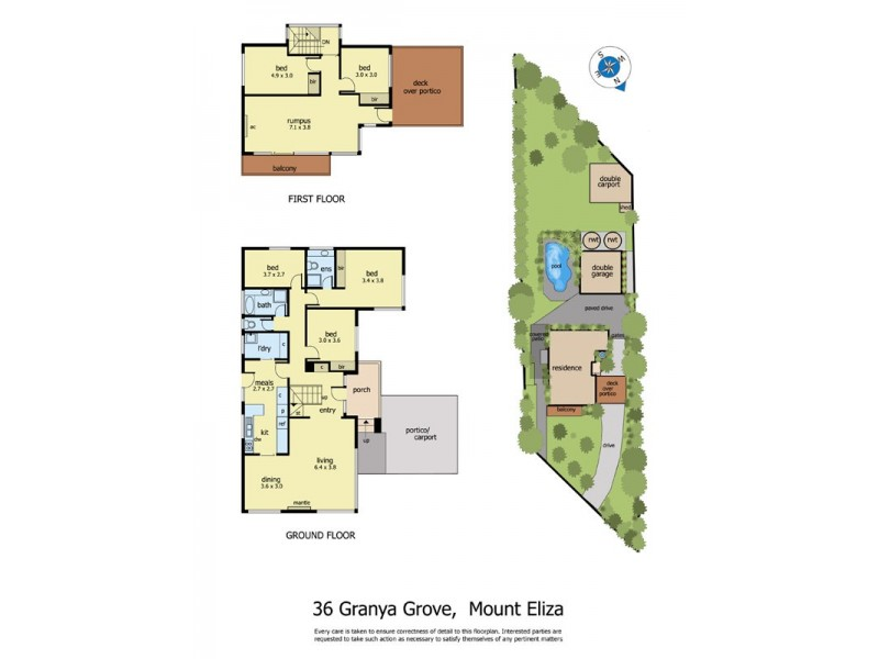 36 Granya Grove, Mount Eliza VIC 3930 Floorplan