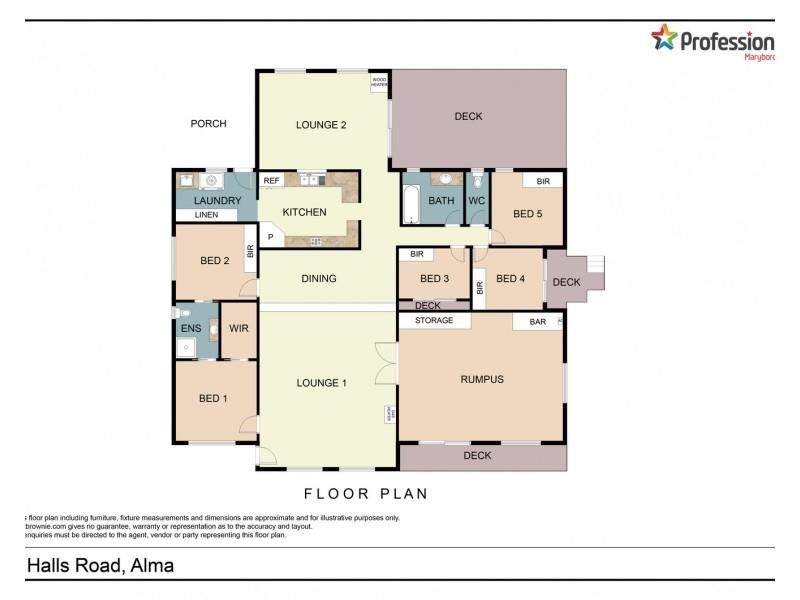 2 Hall Road, Alma VIC 3465 Floorplan