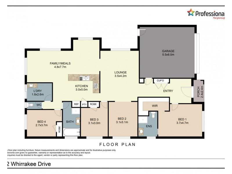 12 Whirrakee Drive, Maryborough VIC 3465 Floorplan