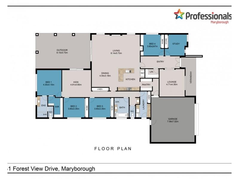 31 Forest View Drive, Maryborough VIC 3465 Floorplan