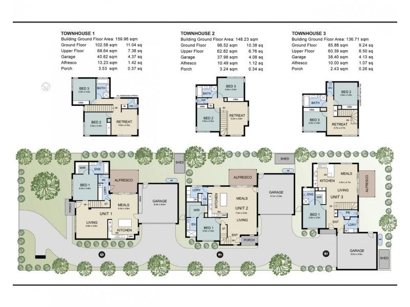 1, 2 & 3/56 Lyons Road, Croydon North VIC 3136 Floorplan