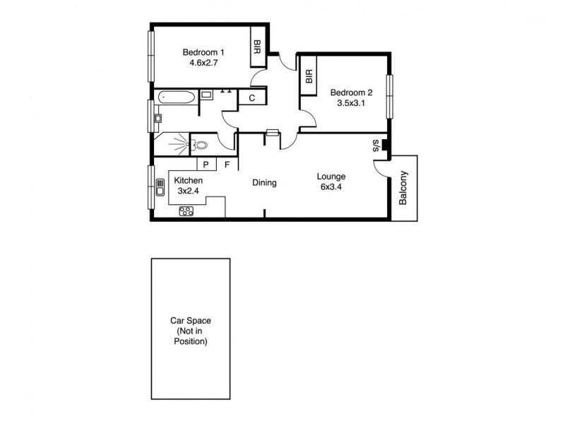 2/8 Robe Street, St Kilda VIC 3182 Floorplan