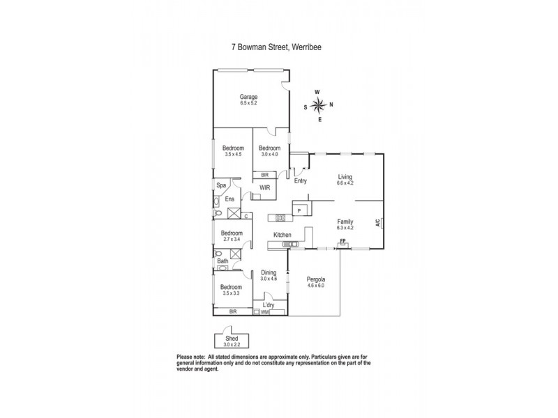 7 Bowman Street, Werribee VIC 3030 Floorplan