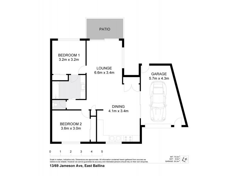 13/69 Jameson Avenue, East Ballina NSW 2478 Floorplan