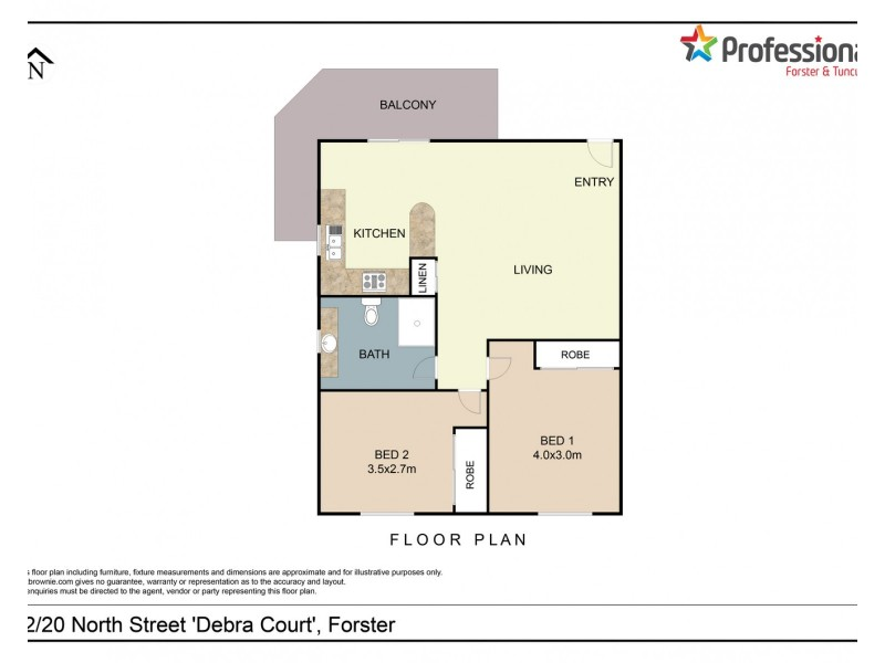 12/20 North Street, Forster NSW 2428 Floorplan