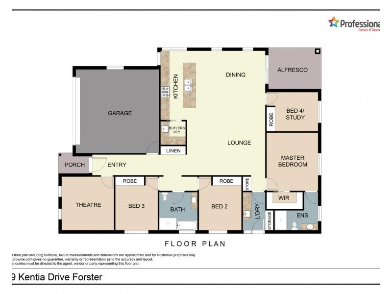 89 Kentia Drive, Forster NSW 2428 Floorplan