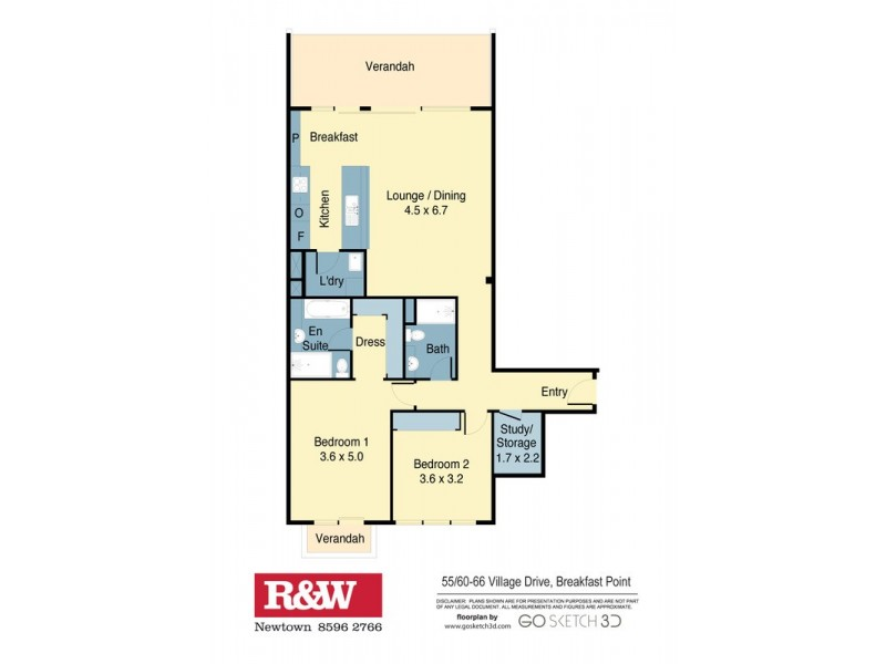 55/60-66 Village Drive, Breakfast Point NSW 2137 Floorplan