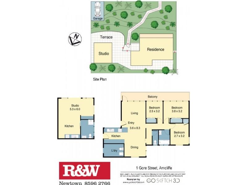 1 Gore Street, Arncliffe NSW 2205 Floorplan