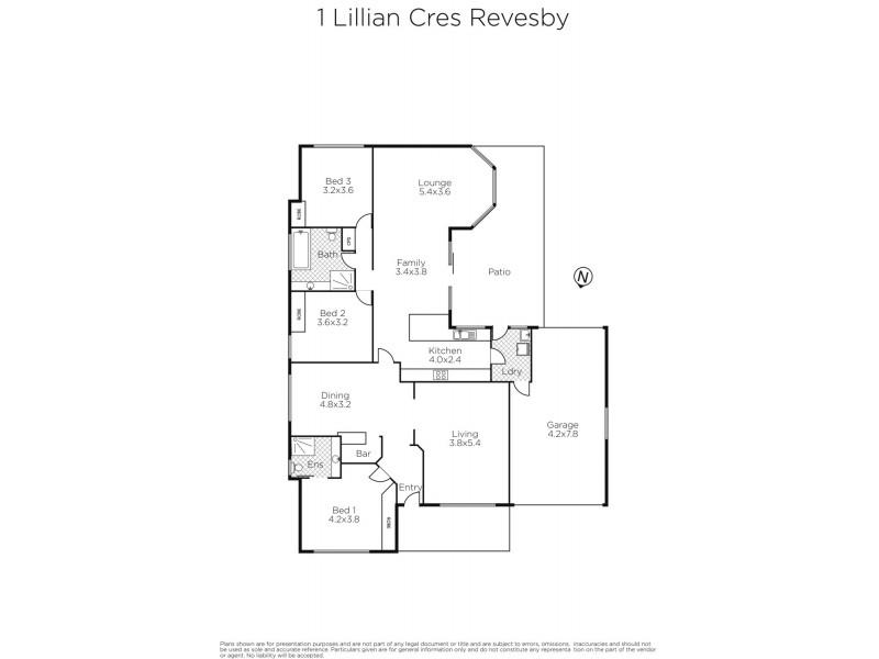 1 Lillian Crescent, Revesby NSW 2212 Floorplan