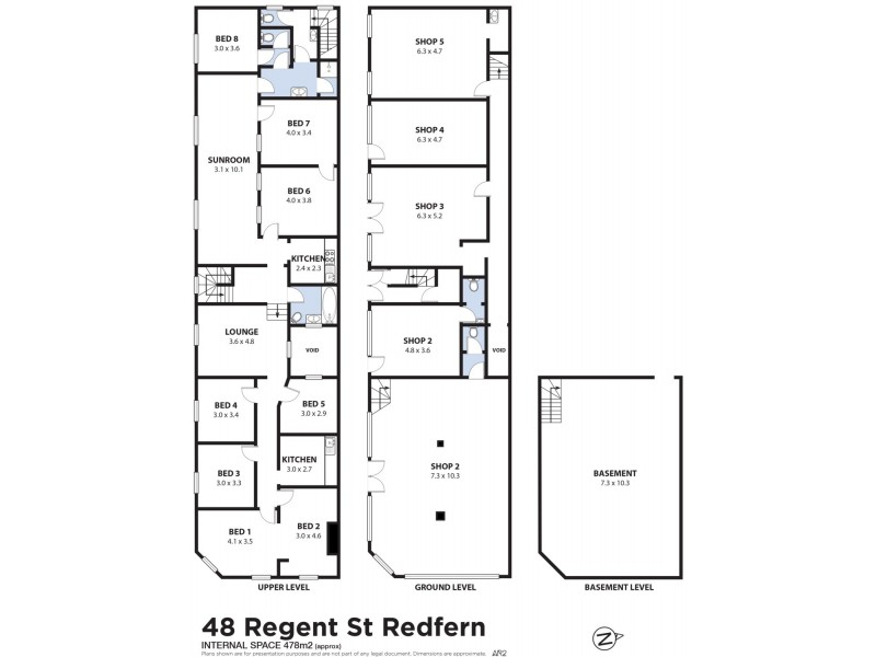 48 Regent Street, Redfern NSW 2016 Floorplan