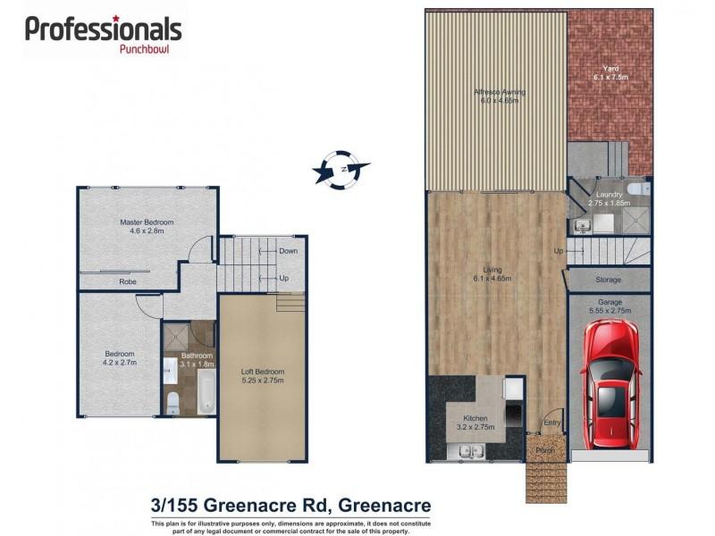 3/155 GREENACRE Road, Greenacre NSW 2190 Floorplan