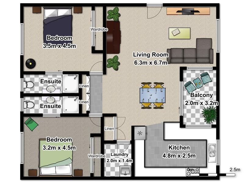 3/8 Tupia Avenue, Tweed Heads NSW 2485 Floorplan
