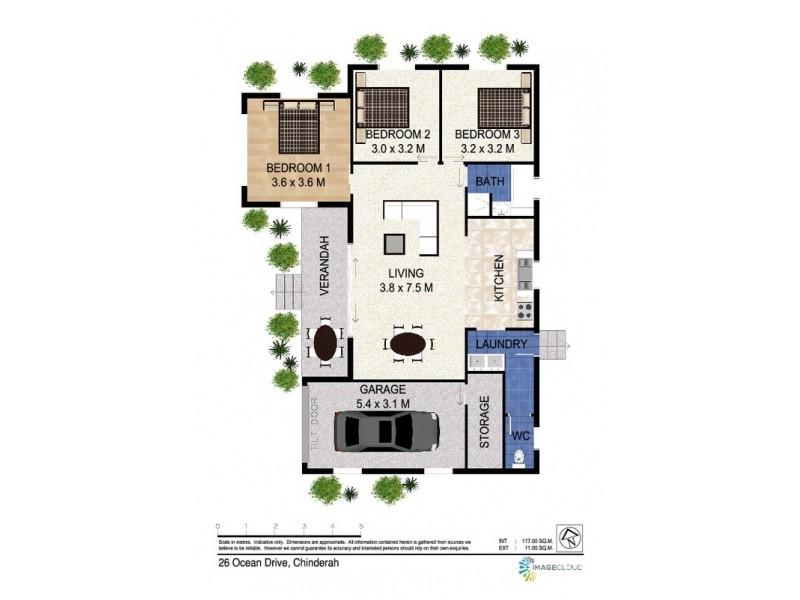 26 Ocean  Drive, Chinderah NSW 2487 Floorplan