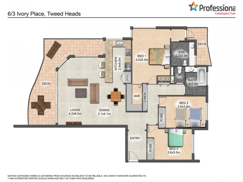 6/1-3 Ivory Place, Tweed Heads NSW 2485 Floorplan
