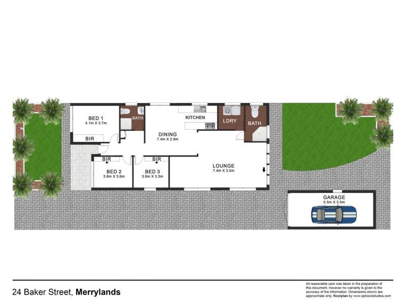 24 Baker Street, Merrylands NSW 2160 Floorplan
