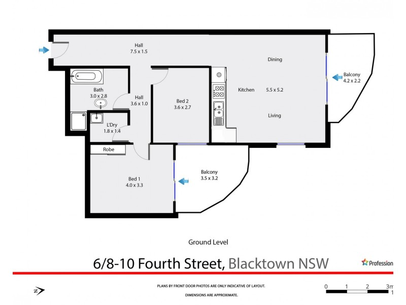 6/8-10 Fourth Avenue, Blacktown NSW 2148 Floorplan