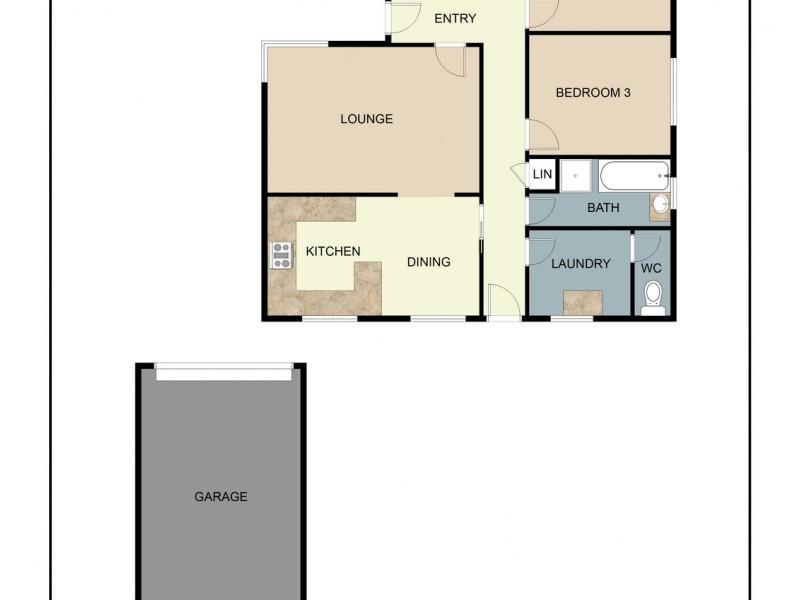 5 Chapel Street, Kangaroo Flat VIC 3555 Floorplan