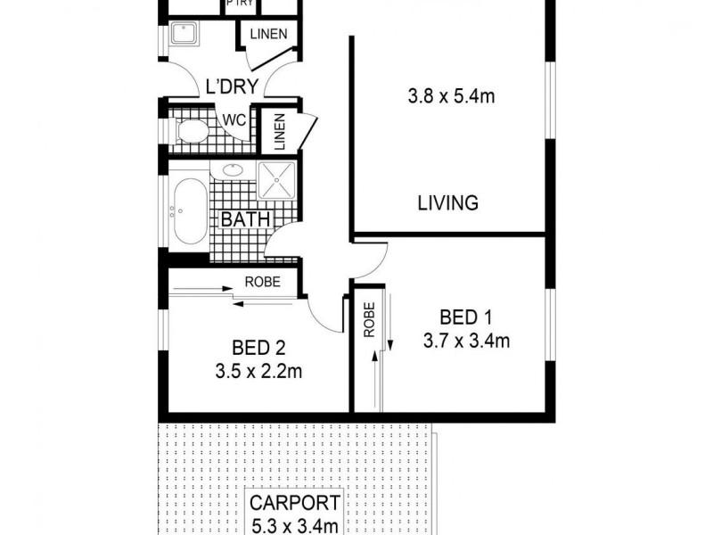 2/20 Glencoe Street, Kennington VIC 3550 Floorplan