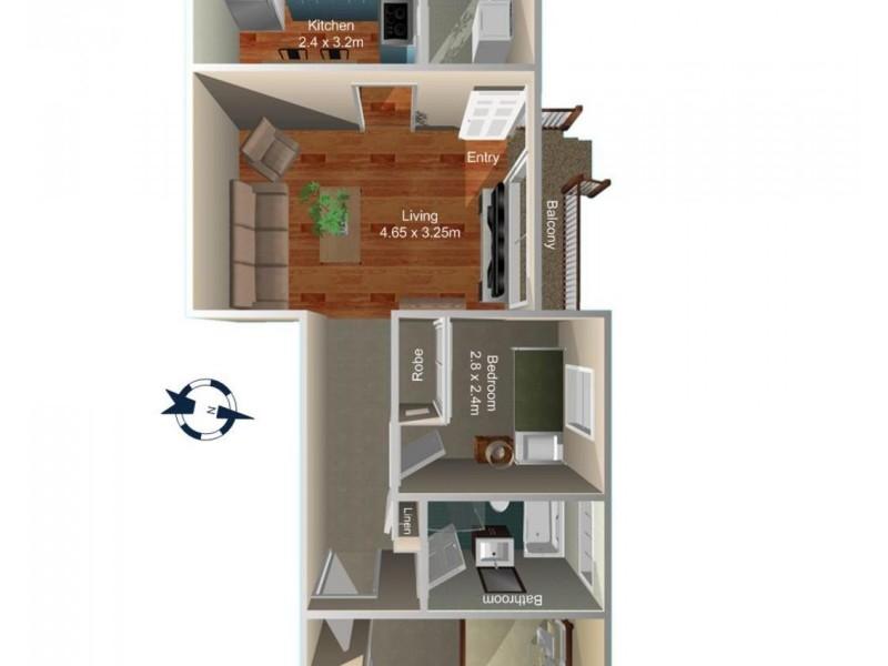 4/15-17 Perry Street, Campsie NSW 2194 Floorplan