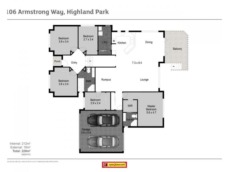 106 Armstrong Way, Highland Park QLD 4211 Floorplan