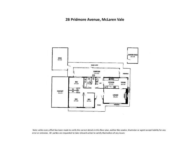 2B Pridmore Avenue, Mclaren Vale SA 5171 Floorplan