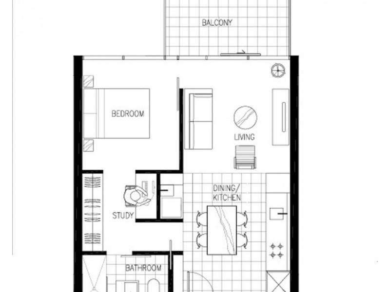105/97 Flemington Road, North Melbourne VIC 3051 Floorplan