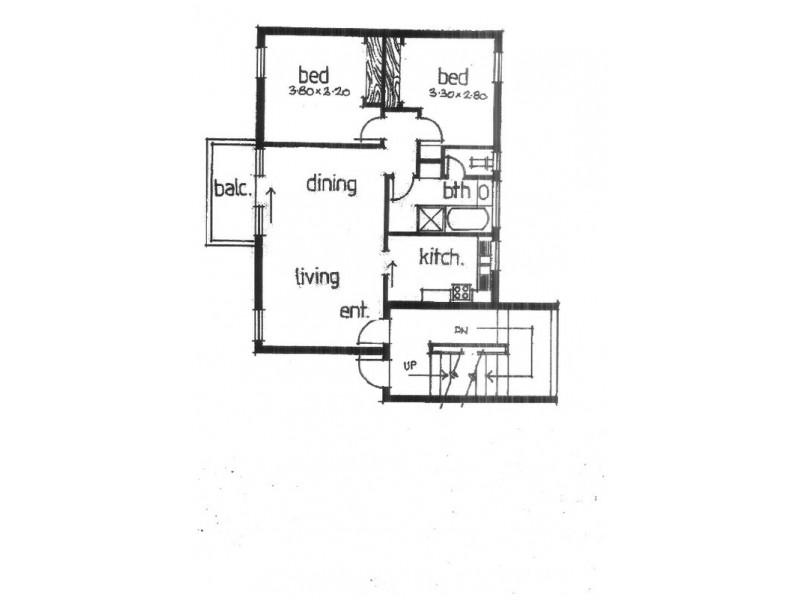 8/678 Lygon Street, Carlton North VIC 3054 Floorplan