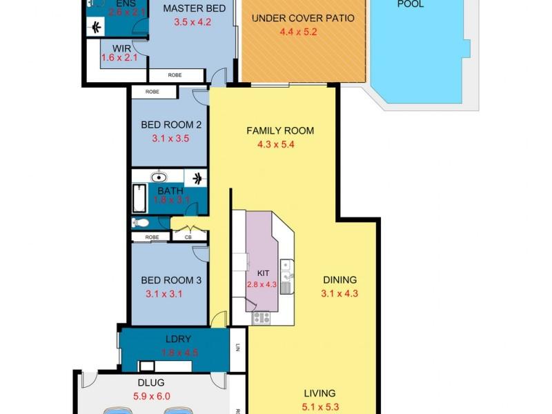 3 Webb Street, Twin Waters QLD 4564 Floorplan