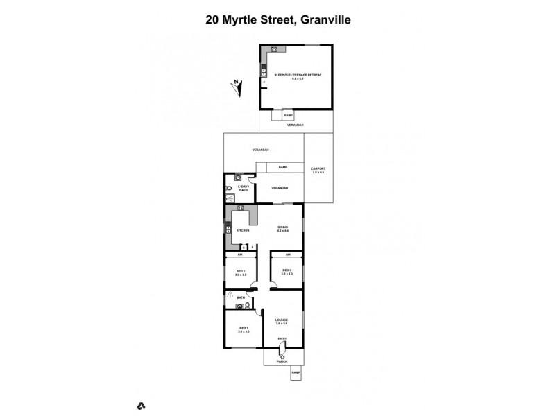 20 Myrtle Street, Granville NSW 2142 Floorplan