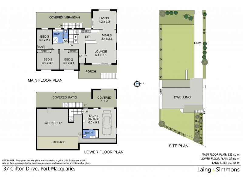 37 Clifton Drive, Port Macquarie NSW 2444 Floorplan