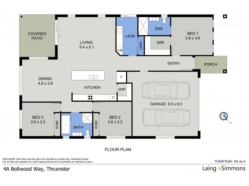 4A Boltwood Way, Thrumster NSW 2444 Floorplan